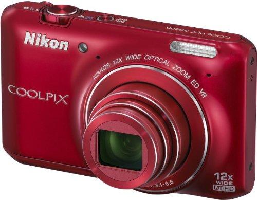 Nikon Coolpix S6400 Kompaktkamera (16 Megapixel, 12-fach opt. Zoom, 7,6 cm (3 Zoll) Touchscreen) rot