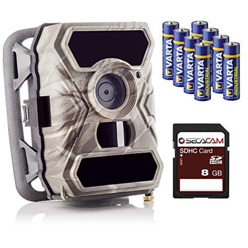 SECACAM Raptor-Full HD de día/visión Nocturna, Oculta inalámbrico para Exteriores, cámaras de Seguridad Wild Cámara-12MP/0,4Segundos Tiempo de Disparo/Detector de Movimiento