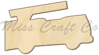 Fire Truck Wood Shape Cutout, Wood Craft Shape, Unfinished Wood, DIY Project. All Sizes Available, Small to Big. Made in the USA. 11 X 6.5 INCHES