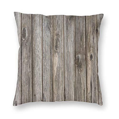 FULIYA Juego de fundas de cojín de algodón para el hogar, sofá, silla, 45 x 45 cm, parquet, madera, textura, superficie