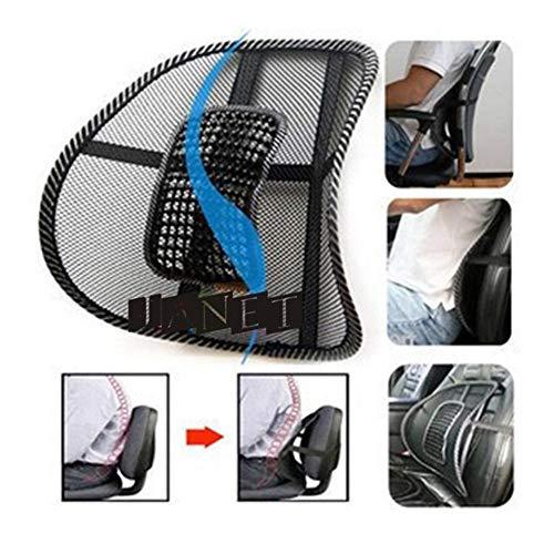 ASDFGH Bequeme Ineinander greifen-Stuhl Lindert Rückenschmerzen Unterstützung Auto-Kissen Bürostuhl Stuhl Schwarz Taillen-Massage-Kissen