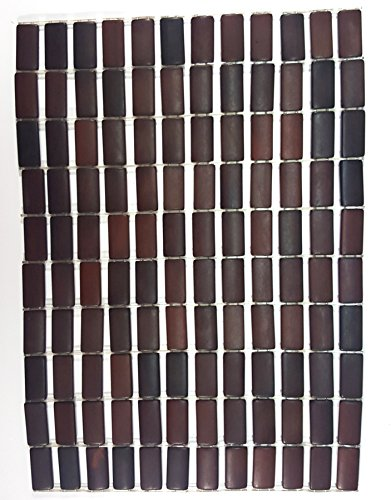 """Bed Bath Outlet Prism Bamboo Placemat, Dining Mat, Decoration for Table, Heat Insulation - Set Of 4 (12"""" X 18"""" Inches Each) (BROWN)"""