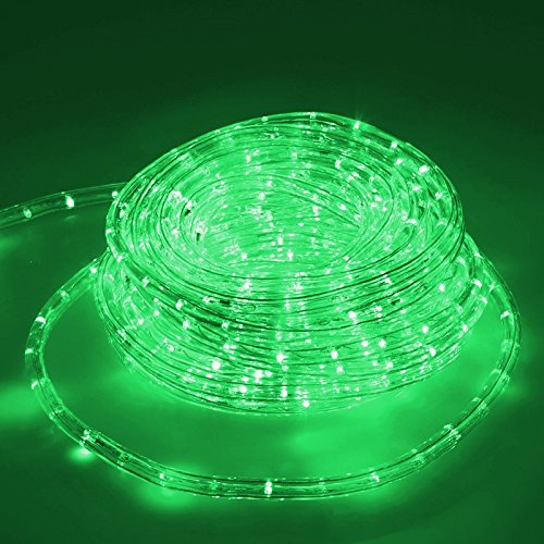 ECD Germany LED Lichtschlauch Lichterschlauch 10 Meter - Grün - 36 LEDs/m - Innen/Aussen - IP44 - Lichterkette Lichtband Licht Leucht Dekoration Schlauch Leiste Streifen Strip