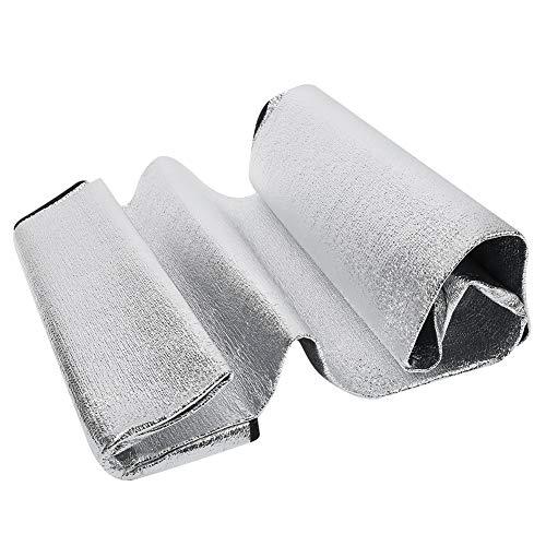 Caiqinlen Estera Plegable de Papel de Aluminio para Acampar, Estera de Senderismo, 1 Uds de Doble Cara para Caza, Patio, Picnic al Aire Libre