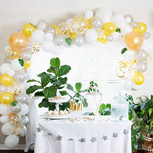 Parti Supplies Balloon Garland Kit: 138 Balloons and Garland Arch Set for Party Supplies and Decor