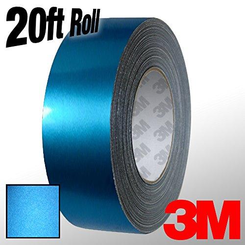 VViViD 3M 1080 Metallic Blue Matte Vinyl Detailing Wrap Pinstriping Tape 20ft Roll (1 Inch x 20ft)