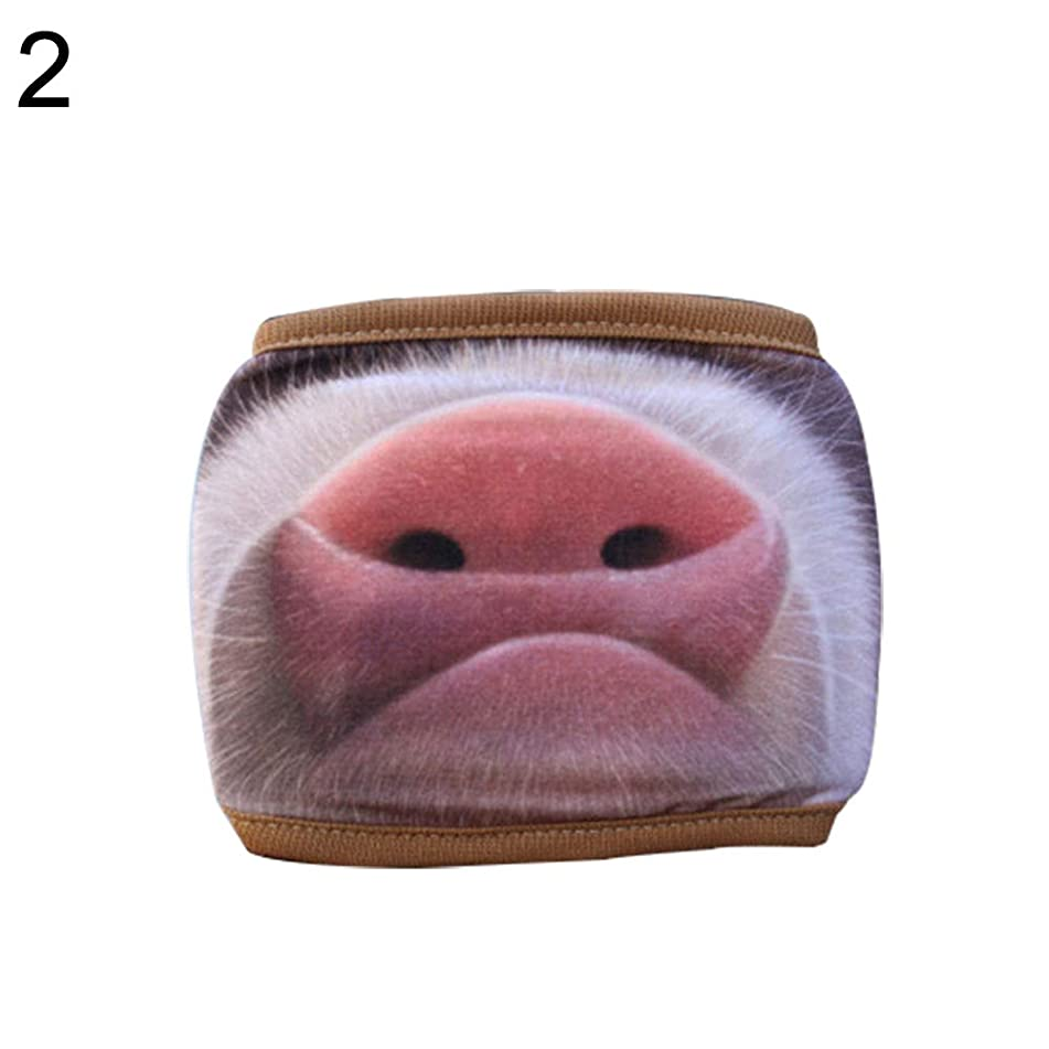 Aland-Lover Couple Outdoor Cycling Anti Dust Windproof Half Face Pig Nose Mouth Mask - 2#