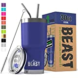 BEAST 30 oz. Royal Blue Tumbler Stainless Steel Vacuum Insulated Rambler Coffee Cup Double Wall (30...