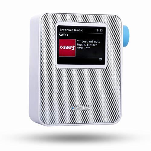 BLAUPUNKT PIB 100 WH  Blaupunkt Steckdosen Internetradio PIB 100 mit WLAN Empfang | Bluetooth Streaming| großes dimmbares Farbdisplay|Wecker-Funktion und Senderspeicher Weiß