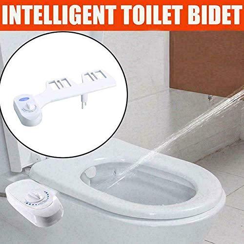 Nicht elektrisches Bidet-Sitzspray , Selbstreinigendes Süßwasserspray, selbstreinigender interner Toilettensitz mit zwei Düsen, abnehmbarer Aufsatz (G1 / 2)