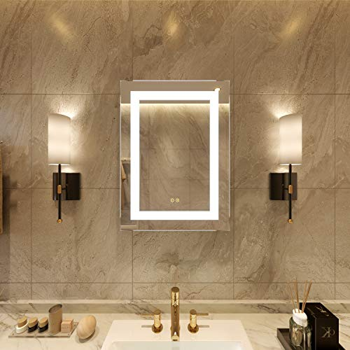 Petus PetusHouse 20 X 28 Inch LED Lighted Bathroom Mirrors, Wall Mounted -