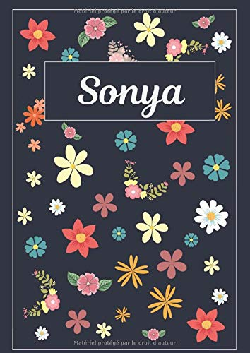 Sonya: Journal | Agenda | Carnet de Notes | 120 pages |...