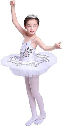 JIE. Tutu-Enfant Sling Ballet Jupe Swan Lake Costumes Adulte Sling Danse Paillettes Ballet Tutu Jupe,blanc,110cm