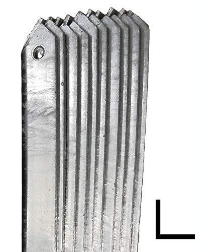 NEXTRADEITALIA CF da 1PZ Saetta di sostegno a L H 200 CM 25x25x3 mm ZINCATA per paletti in ferro a T da H 225 e 250   recinzioni da GIARDINO