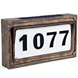 Solar House Number, Address Plaques for House,StreetSigns Mailbox Numbers for Outside-Warm White light