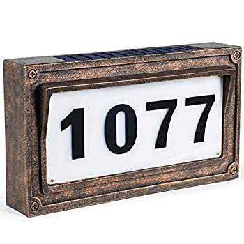 Solar House Number Address Plaques for House,StreetSigns Mailbox Numbers for Outside-Warm White light