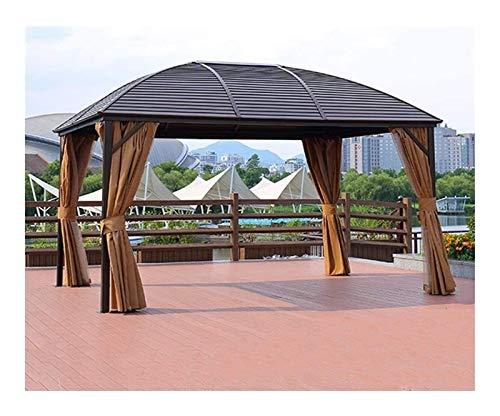 HLZY Gazebo Permanente para el césped del Patio, Gazebo de jardín, Pabellón Pabellón Toldo Aluminio Pabellón Móvil Cuatro Pabellón Pabellón Pabellón para Patio Al Aire Libre
