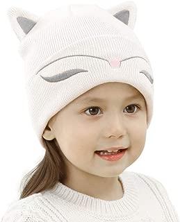 Toddler Kids Cat Ear Hats Winter Beanie Knit Caps Boy Girl Christmas (Aged 2-6)