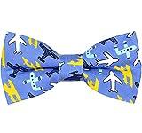 OCIA®Hombre/niños Hecho a Mano Clásicos Diseño original del patrón animal lindo Pajarita (Airplane, M - (6 años para adultos jóvenes))