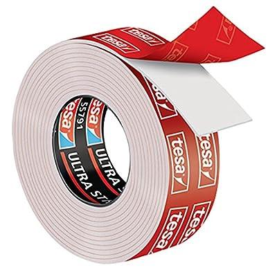 adecuado para su uso en interiores y exteriores Sujeción fuerte Soporta hasta 10kg por cada 10cm de cinta Fija fuerte en superficies lisas y firmes No resistente a los rayos UV