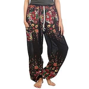 Lofbaz Mujeres Harén Pantalones de Cintura de cordón Ropa Boho Yoga | DeHippies.com