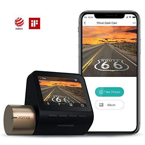 70mai Dash Cam Lite, Smart Car Camera 1080p, WiFi Dash Camera for Cars Sony IMX307, 2' LCD Screen, Parking Monitor, G-Sensor, Super Night Vision, Loop Recording, iOS/Android Mobile App WiFi (2021)