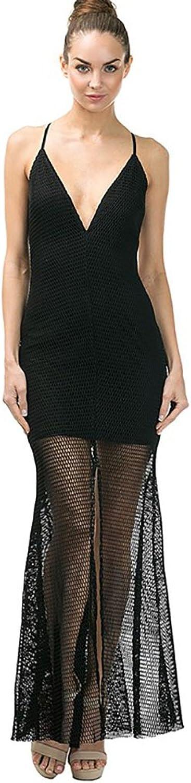Black Nett Formal Flare Dress