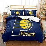EFXCHSY Bett-Set 3-teilige Steppdecke Mikrofaser für Jersey Pacers Bedruckter weicher & glatter...