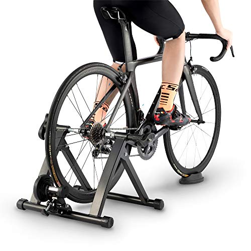 ROCKBROS Bike Trainer Stand Indoor Magnetic Bicycle Exercise Trainer Foldable Mountain Road Bike Trainer with 5 Levels Resistance