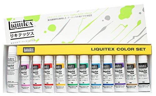 Set R4 white No. 6 12 color mixing Liquitex 10ML (japan import)