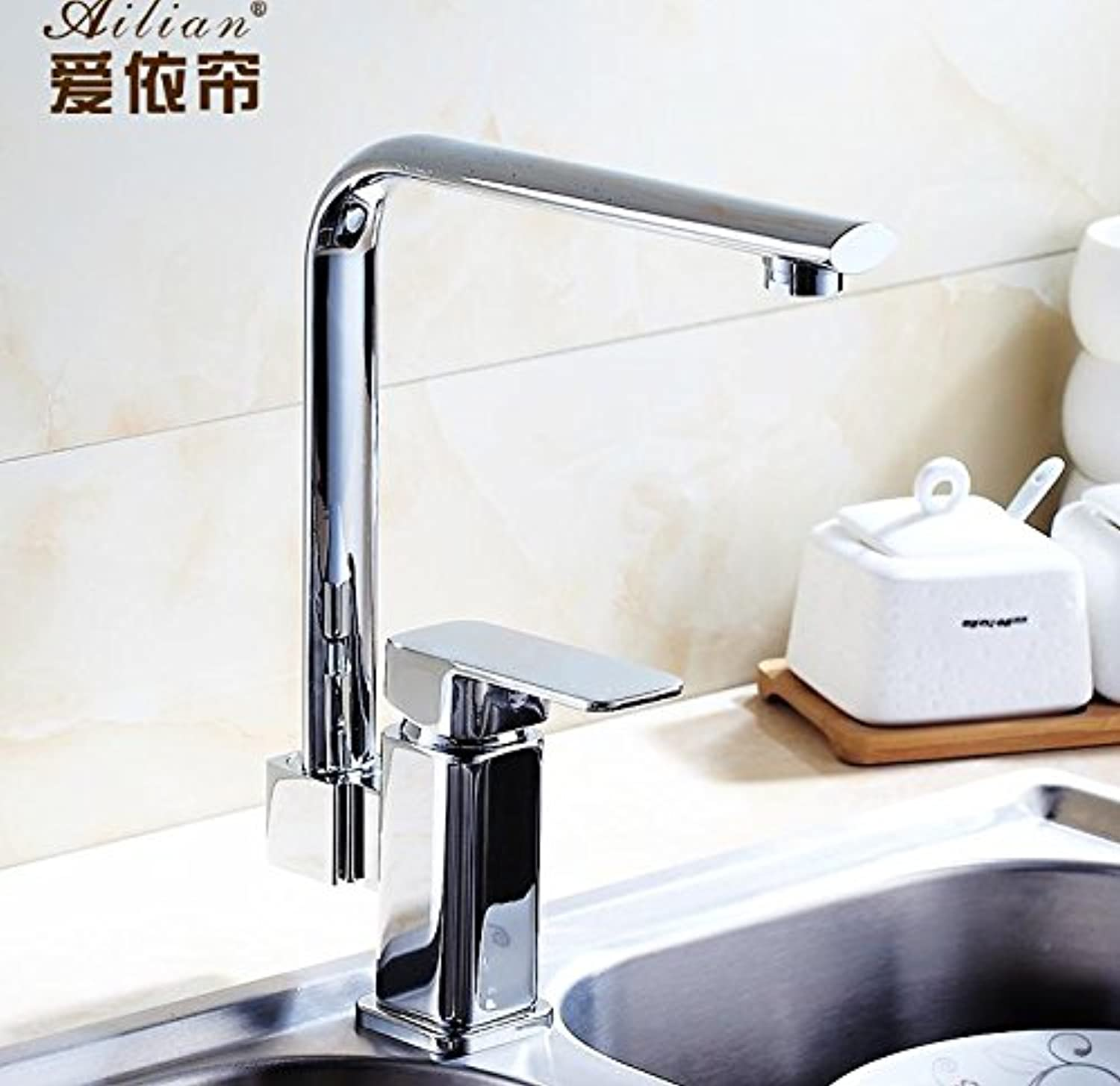 U-Enjoy Nordic Classical Modern Top Quality Kitchen Faucet Hot Cold Vegetables Sink Faucet 100% Copper Kitchen Tap (Free Shipping)