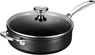 Le Creuset TNS5100-26 Toughened Nonstick 4 1/4 quart Saute Pan with Glass Lid, 4-1/4