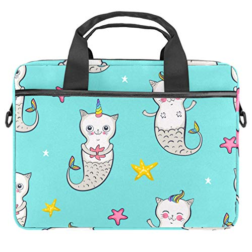 2021 Laptop Bag 15 inch Business Computer Laptop Case Laptop Sleeve Shoulder Messenger Bag Tablet Carrying Case for Women and Men Cute Unicorn Cat Mermaid with Star