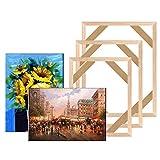 YOBAIH Marco de Lona de Madera de Bricolaje para Pintura al óleo Pintura de Lienzo Pintura Marcos Galería Lienzo Camilla Bar Decoración para el hogar Marcos Foto (Color : 30x40cm)