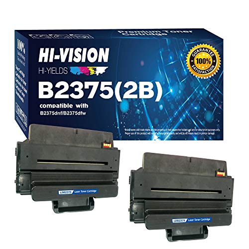HI-VISION HI-YIELDS Compatible B2375, 593-BBBJ, 8PTH4 (2 Pack) Black 10,000 Page Each Toner Cartridge Replacement for B2375dnf, B2375dfw Multifunction Printers