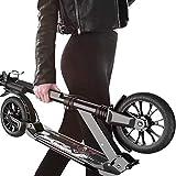 Patinete Kick Scooters Montar portátil al aire libre kick scooter-adulto Vespa con ruedas grandes y el disco de freno de mano, de doble suspensión plegable del viajero Vespa con bolsa de transporte -