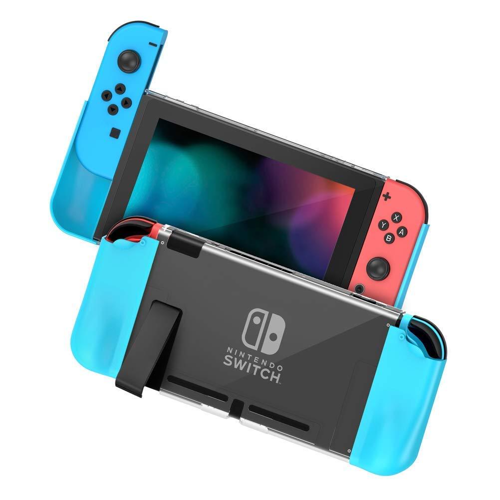 Zecti [Actualizado] Estuche protector para Nintendo Switch, PC+TPU Grip Cover Switch para consola y Joy-Con Controller, antideslizante Accesorios para interruptor Nintendo Cover Grip estuche (Azul): Amazon.es: Oficina y papelería
