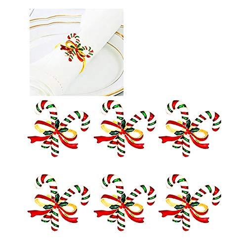 Serviettenringe mit Weihnachtsmotiv, Metalllegierung, 6 Stück