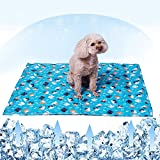 Tankyomilex Pet Cooling Mat Ice Silk Self Cool Pad for Dogs Cats Summer Sleeping Mat Perfect for Indoors & Outdoors or Kennel Sofa Bed Floor Travel Car Seats, Large Size 30'x24' & Cat