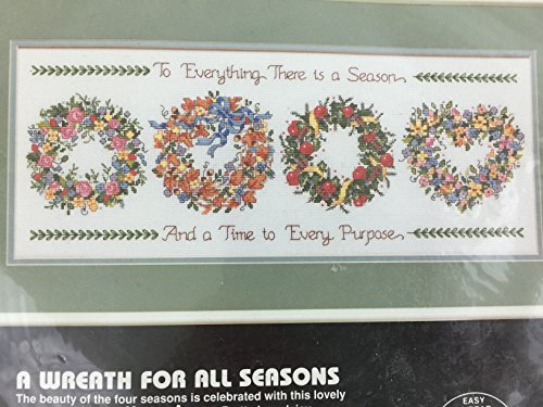 Dimensions A Wreath For All Seasons 3709 Counted Cross Stitch Kit 14 count 20 x 8