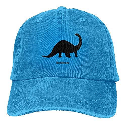 Hoswee Baseballmütze Hüte Kappe Herbivore Dinosaur Plain Adjustable Cowboy Cap Denim Hat for Women and Men