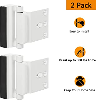 Door Reinforcement Lock Child Safety Door Security Lock with 4 Screws for Inward Swinging Door-Add Extra,High Security to Your Home|Prevent Unauthorized Entry-3