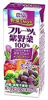 野菜Daysフルーツ&紫野菜100% 200ml ×18本
