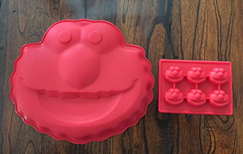 Sesame Street Elmo Silicone Cake Mold Chocolate Mini Cake Pan Set