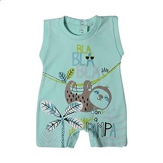 Papillon Sloth-Print Snap-Button Sleeveless Bodysuit for Boys