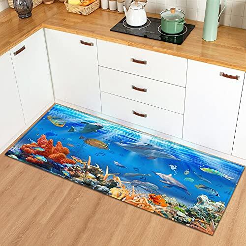 Tappetino per la porta d'ingresso della casa del tappeto della cucina, tappeto decorativo per bambini della camera da letto, tappetino antiscivolo per il bagno del corridoio NO.11 60X90cm