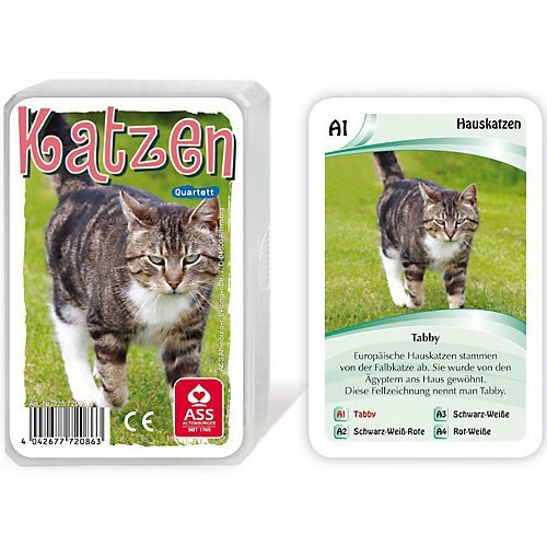 ASS Altenburger Spielkarten Quartett (Katzen 2015)
