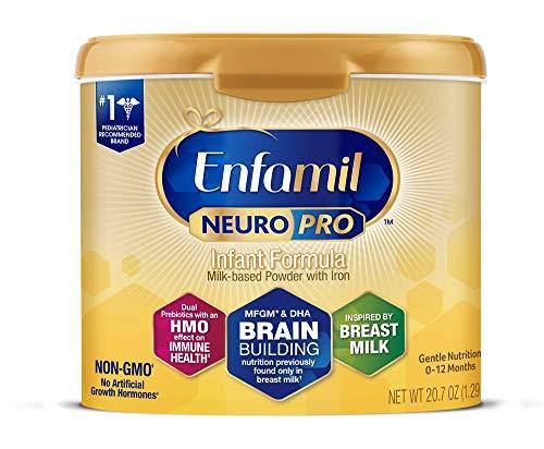 Enfamil NeuroPro Baby Formula Milk Powder Reusable Tub, 20.7 oz -Brain Building Nutrition Inspired by Breast Milk-Omega 3 DHA, Non-GMO, MFGM,...