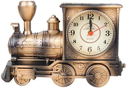 LIUFEI Relojes de Pared Reloj de Pared Color Color Train Estudiante Cama con Adornos De Mesa Creativa