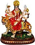 "Krishna Culture Durga Ma Statue India Figurine 5.5"" Hindu Warrior Goddess Idol Golu Doll"